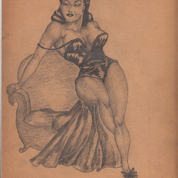 Drawings by Asa Moore African-American artist circa 1935 - Folk Art