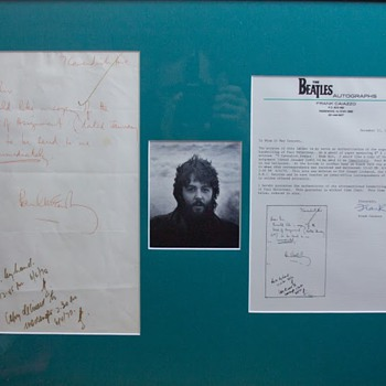 Paul McCartney letter - April 6, 1970 - Music