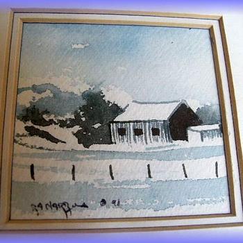 One-of-a-Kind ----------------> ORIGINAL WATERCOLOUR ( Canadian ) by BOB HARROLD - Visual Art