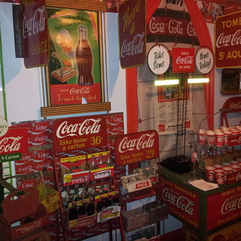 Double Sided Coca-Cola Grocery Aisle Stand & Improved Coke Truck - Coca-Cola