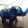 Blue Glass Elephant