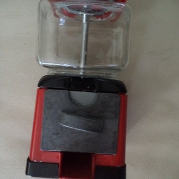 Retro Red Cent Gumball Machine by Continental Gum of Canada