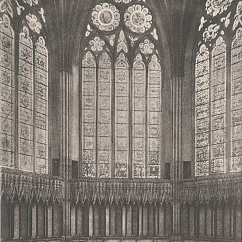 YORK MINSTER, CHAPTER HOUSE c. 1885 - Postcards