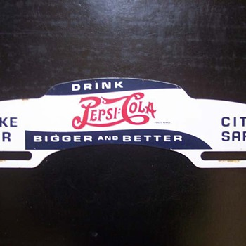 Pepsi Cola License Plate Topper - Signs