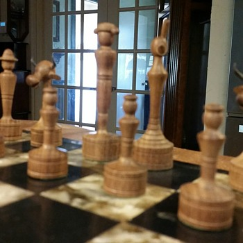 Found unique Spanish chess set