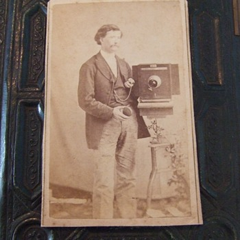Photographer and his camera CDV