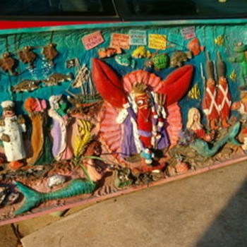New Orleans Handmade Large Folk Art Advertising Before Katrina