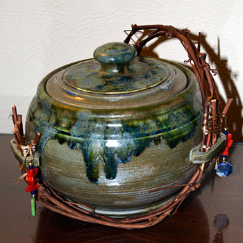 Lidded Pottery Bowl - Art Pottery