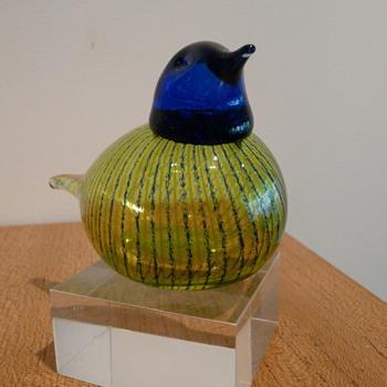 BIANCO BLU OY FINLAND  LASILINTU - Art Glass