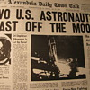 Historic Front page News -- Blasting off from the Moon