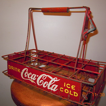 1930's Vendor Bottle Carrier - Metal/Wire - Coca-Cola