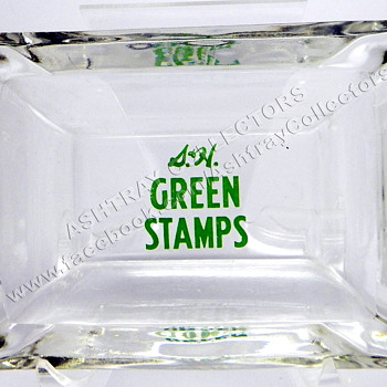 Green Stamps Ashtray - Tobacciana