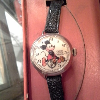 1936 English Ingersoll Mickey Mouse wristwatch