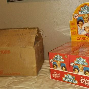 1980's Dukes of Hazzard Uno Playing Cards Store display ! 24 sealed packs