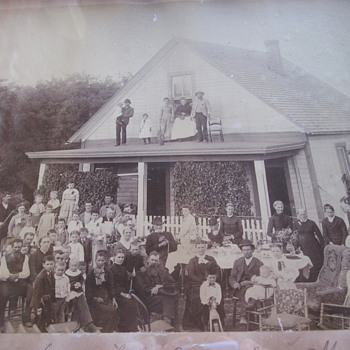 50th Wedding Anniversary Supper Photo Dated 1887 - Photographs