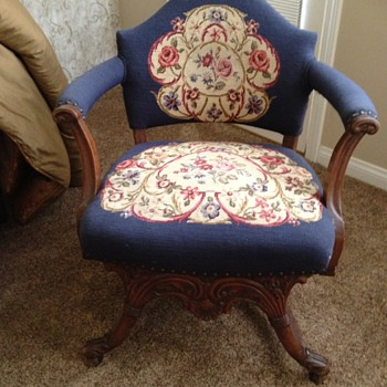 Antique Needlepoint chair - Furniture