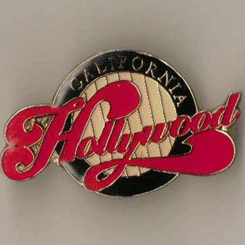 "1995 - ""Hollywood"" Pinback - Medals Pins and Badges"