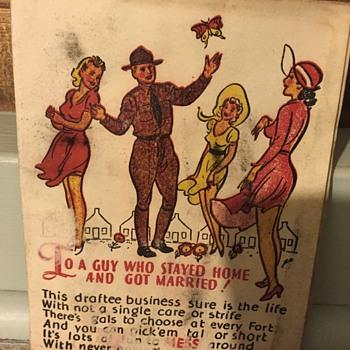 WWII? Propaganda card?