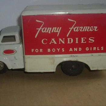 1950-60 japan tin truck Fanny Farmer candy!!