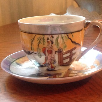 Japanese cup and saucer