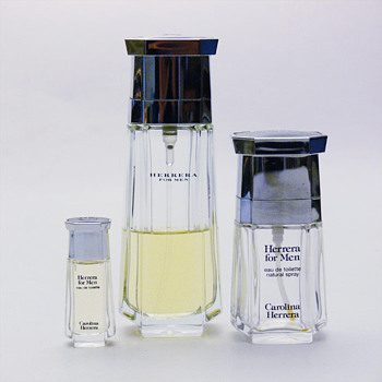 Some perfume bottles for Carolina Herrera by André Ricard.
