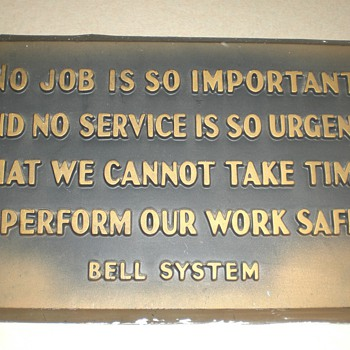 Bell System and General System Safety Creed - Telephones
