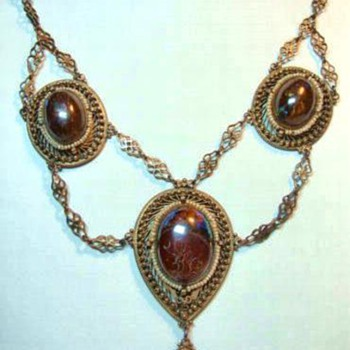 Victorian Festoon Opal Necklace