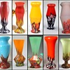 Czech Spatter Glass - Some confirmed Kralik shapes and decors