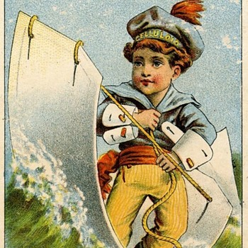 Trade Card,Hey Guys, How Would You Like To Wear Waterproof Celluloid Collars this Summer? - Advertising
