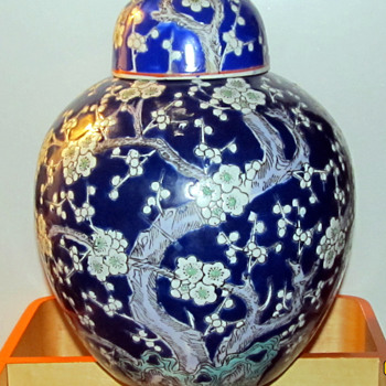 My oriental porcelain Blue and white ginger jar