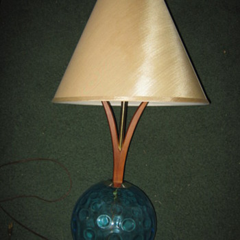 Danish-Modern style sculptural table lamps - Mid Century Modern
