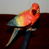 Clip-on porcelain parrot