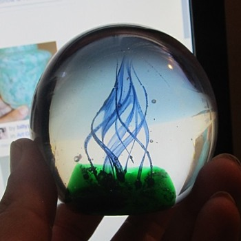 2006 signed art glass paper weight