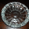 mystery European heavy clear glass bowl from 1970's