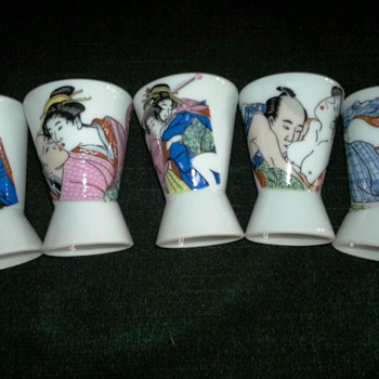 Japanese Erotic Sake Cups - Asian