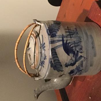 Large pottery teapot