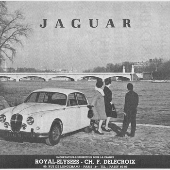 1961 Jaguar Advertisement - French - Advertising