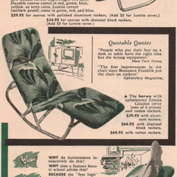 1950 Barwa Chair Advertisement - Advertising