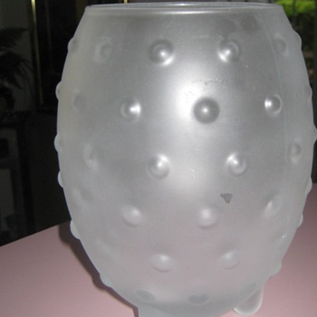 Frosted glass bowl - Glassware