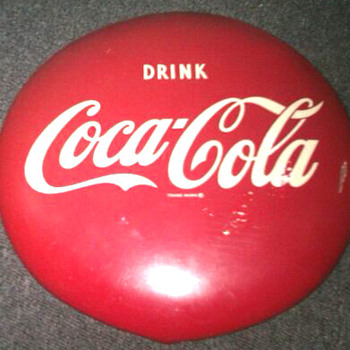 "16"" Coca-Cola Red Button Sign - Coca-Cola"