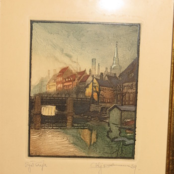 Original Etchings by Hans J. Bachmann???  HELP!! - Visual Art
