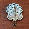 Sterling peacock brooch