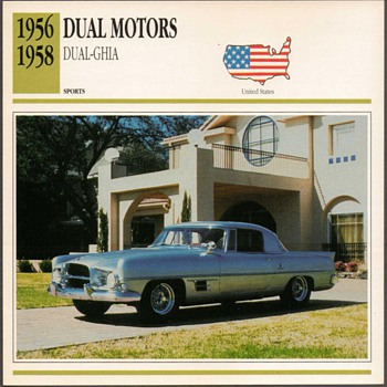 Vintage Car Card - Dual Motors Ghia