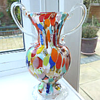 Vintage Millefiore double handled vase 
