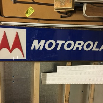Vintage Motorola sign - Signs