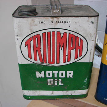Is this worth anything,,, Triumph Oil Can  - Petroliana