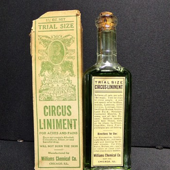 Circus Liniment, Boxed, Labeled, and Full-- And Smelly