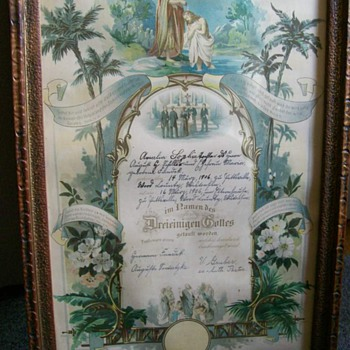1906 Baptism Record for Grandmother  - Posters and Prints