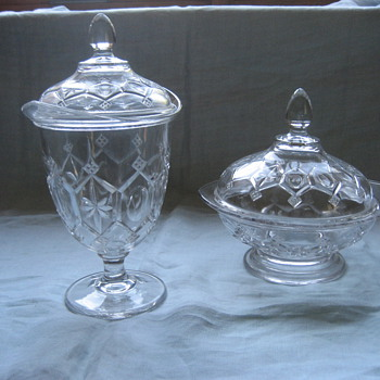 Covered glass dishes - Glassware