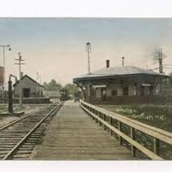 Windham NH Depot Postcard